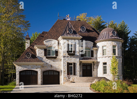 Exterior of a large house - Stock Photo