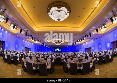 Banquet hall at Emirates Palace Hotel, Abu Dhabi - Stock Photo