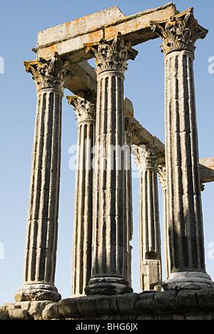 Temple of diana in evora - Stock Photo