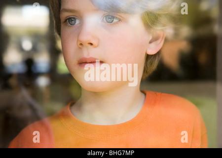 Boy through a window