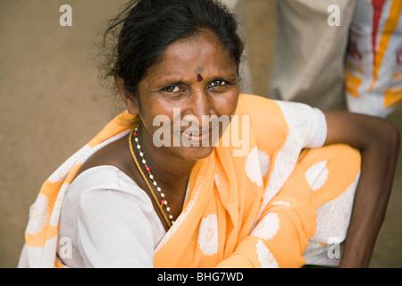 Woman in mysore india Stock Photo