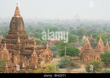 Ancient city of bagan in burma - Stock Photo
