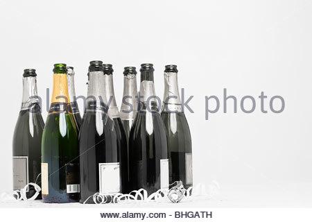 Champagne bottles - Stock Photo