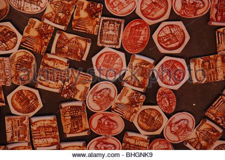 A display of fridge magnets showing an assortment of images Petra Jordan - Stock Photo