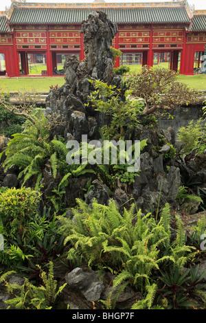 Vietnam, Hue, Citadel, Imperial Enclosure, garden, - Stock Photo