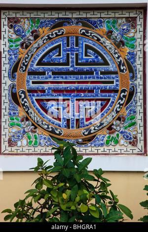 Vietnam, Hue, Citadel, Imperial Enclosure, window - Stock Photo