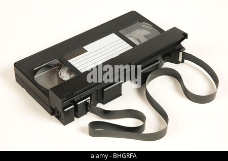 Traditional VHS Video Cassette - Stock Photo