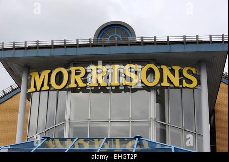 Morrisons supermarket sign - Stock Photo