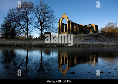 The ruins of Bolton Abbey (Bolton Priory) in Wharfedale in the Yorkshire Dales national park, england, uk - Stock Photo