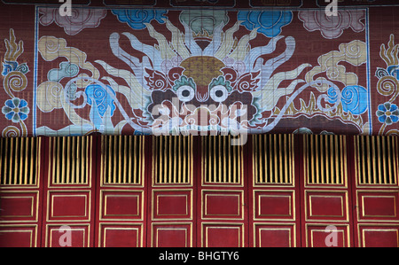 Vietnam, Hue, Citadel, Imperial Enclosure, To Mieu Temple, - Stock Photo
