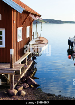 A boathouse y the sea, Sweden. - Stock Photo