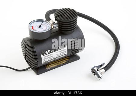 12 volt air compressor - Stock Photo