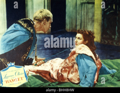 HAMLET - 1948 Rank/Two Cities film with Laurence Olivier and Eileen Herlie as Queen Gertrude - Stock Photo