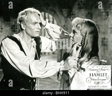 HAMLET - 1948 Rank/Two Cities film with Laurence Olivier and Jean Simmons as Ophelia - Stock Photo