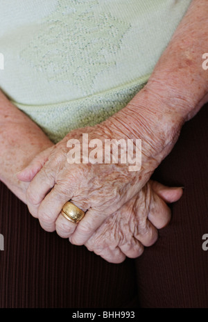 The hands of a senior woman, Brazil. - Stock Photo