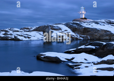 A lighthouse, Bohuslan, Sweden. - Stock Photo