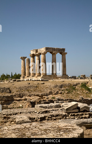 Ancient Corinth Pelponnese Greece - Stock Photo