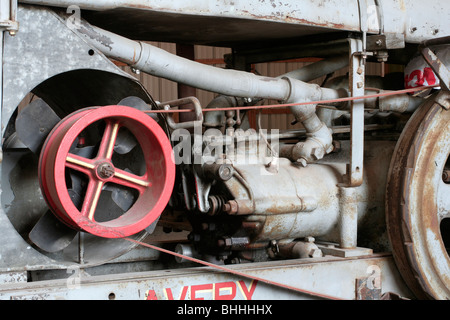 Early gasoline engine on Farm Tractor - Stock Photo