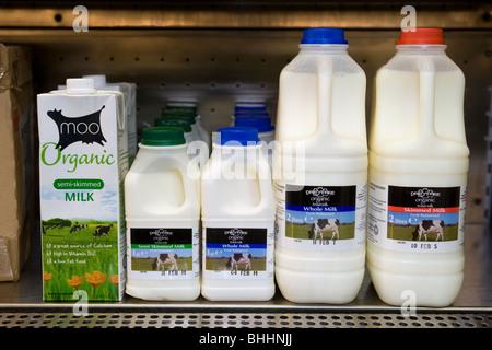 Organic Milk In A Farm Shop - Stock Photo