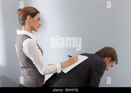 working woman turn the tables - Stock Photo