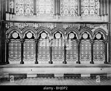 Chapter House, Salisbury Cathedral, Salisbury, Wiltshire, after 1850s. Artist: Unknown - Stock Photo