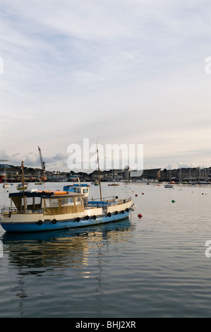 View from ferry across St Mawes to Falmouth,Cornwall England UK - Stock Photo