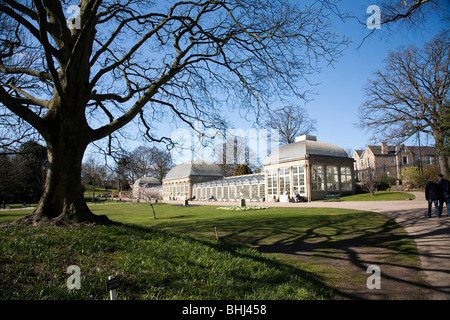 The pavilions in the Botanical Gardens, Sheffield - Stock Photo