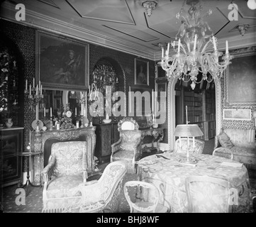Ballroom at Holland House, Kensington, London, pre 1890. Artist: A Newton - Stock Photo
