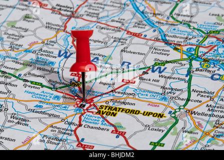 Warwickshire map England UK with English national flag illustration