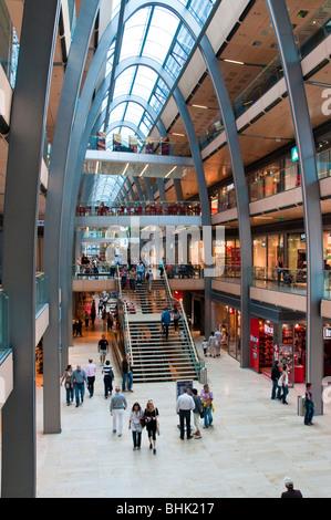 Shopping Centre Europa Passage, Moenckeberg Street, Hamburg, Germany - Stock Photo