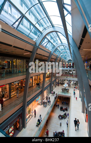 Shopping Centre Europa Passage, Moenckeberg Street, Hamburg, Germany - Stock Photo
