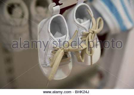 Pair of children's shoes - Stock Photo