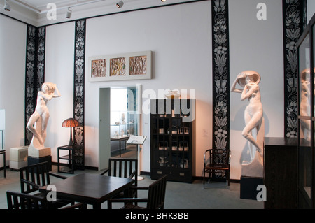 art nouveau, Museum fuer Kunst und Gewerbe, railway platforms, Hamburg, Germany - Stock Photo