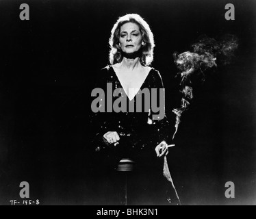 Lauren Bacall (1924- ), American actress, in a scene from 'The Fan', 1981. Artist: Unknown - Stock Photo