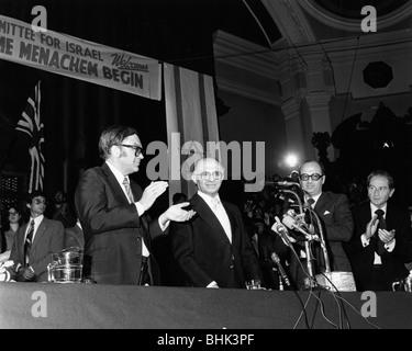 Menachem Begin (1913-1992), 6th Prime Minister of Israel, 1979. - Stock Photo