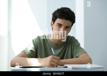 Male high school student, portrait - Stock Photo