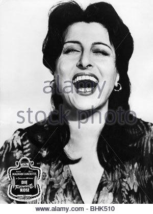 Magnani, Anna, 7.3.1908 - 26.9.1973, Italian actress, portrait, scene from the movie: 'The Rose Tattoo', USA 1955, - Stock Photo