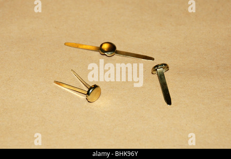 office, office supplies, paper fasteners, Additional-Rights-Clearance-Info-Not-Available - Stock Photo