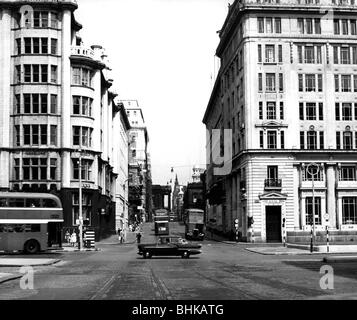 geography / travel, Great Britain, Liverpool, streets, Water Street, circa 1960, Additional-Rights-Clearances-NA - Stock Photo