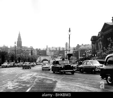geography / travel, Great Britain, Liverpool, street scenes, City Centre, 1960s, Additional-Rights-Clearances-NA - Stock Photo