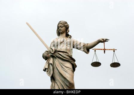 Scales of Justice, Dublin Castle, Ireland - Stock Photo