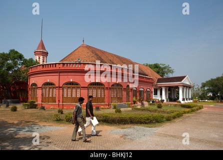 India, Kerala, Thiruvananthapuram, (Trivandrum), Kanakunna Palace former Travancore Royal residence - Stock Photo