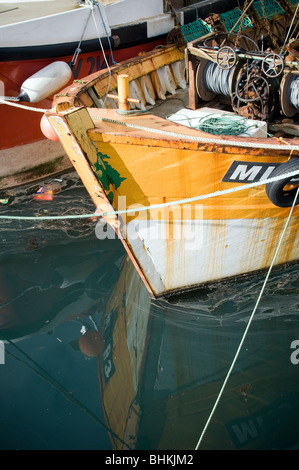 Plymouth harbour and trawlers - Stock Photo