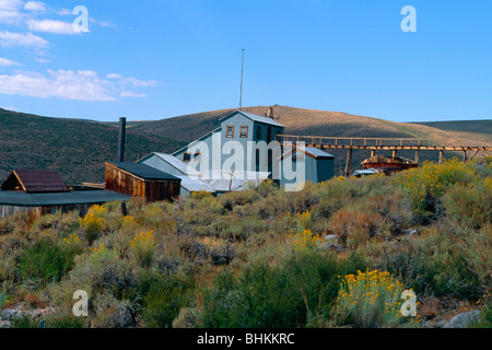 View of the Standard Stamp Mill, Bodie Historic State Park, California - Stock Photo