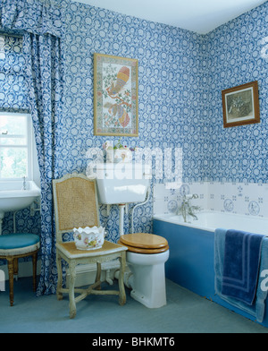 Curtains Ideas curtains matching wallpaper : Floral Wallpaper And Matching Curtains In Cottage Attic Bedroom ...