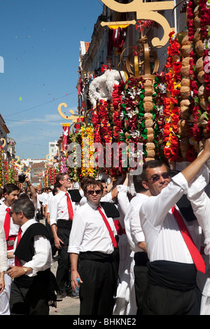 Tabuleiros Festival in Tomar, Portugal. Is been held every 4 years. Pictures of 2007. - Stock Photo