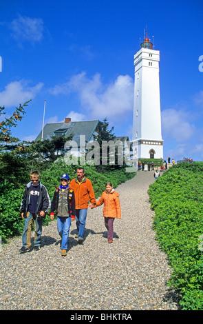 lighthouse of Blavand, Denmark - Stock Photo