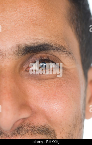 Closeup of a happy ethnic man - Stock Photo