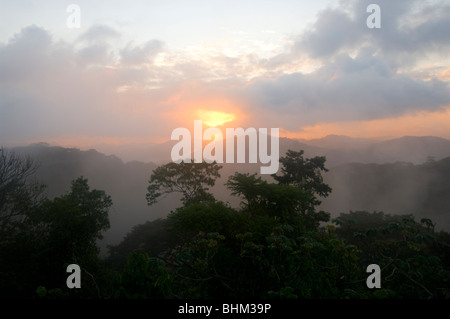 Panama Sunrise over Soberania National Park - Stock Photo