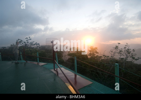 Panama Canopy Tower Sunrise over Soberania National Park - Stock Photo